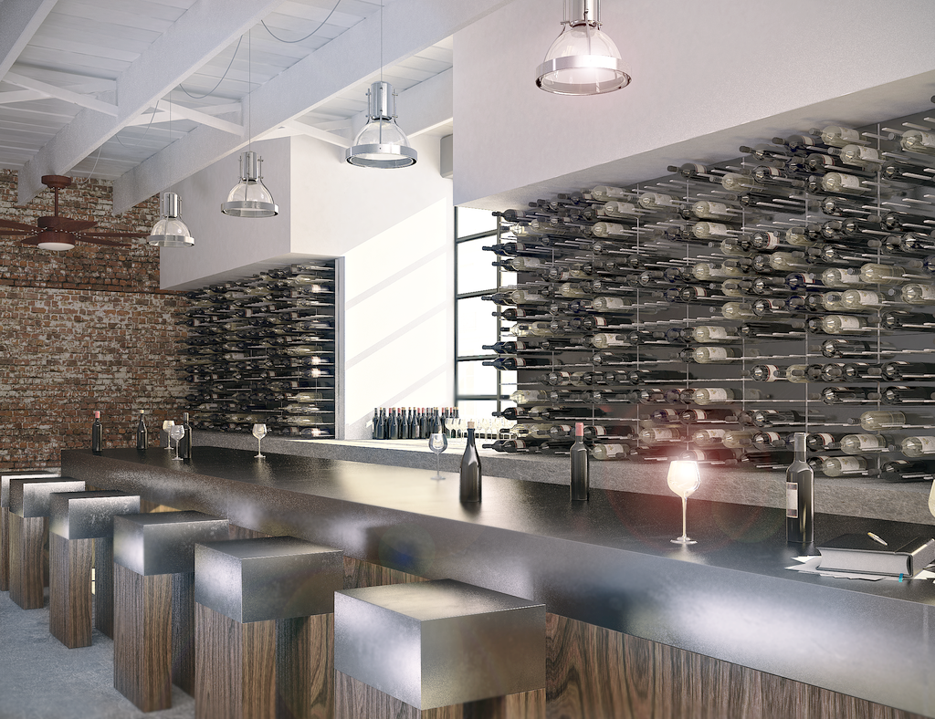 commercial wine racks for restaurants, bars, hotels
