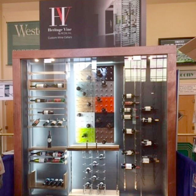 wine display racking in new york with heritage vine wine cellars