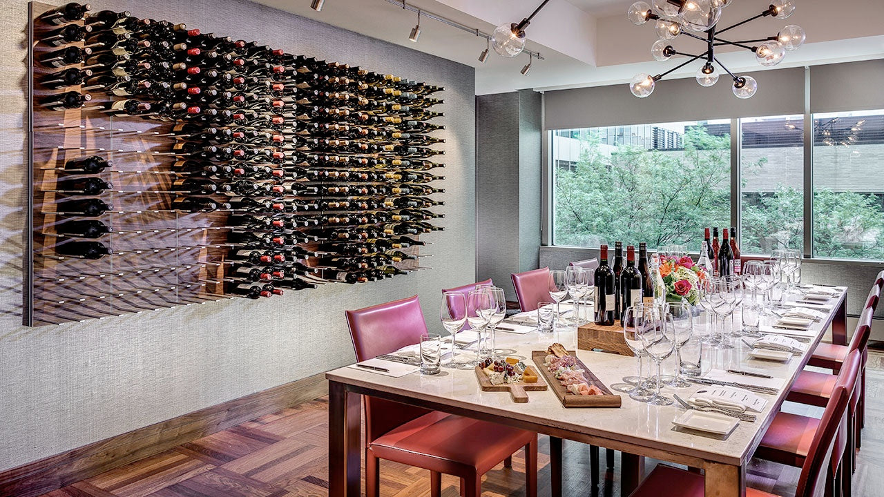 hyatt magnificent mile wine room in chicago