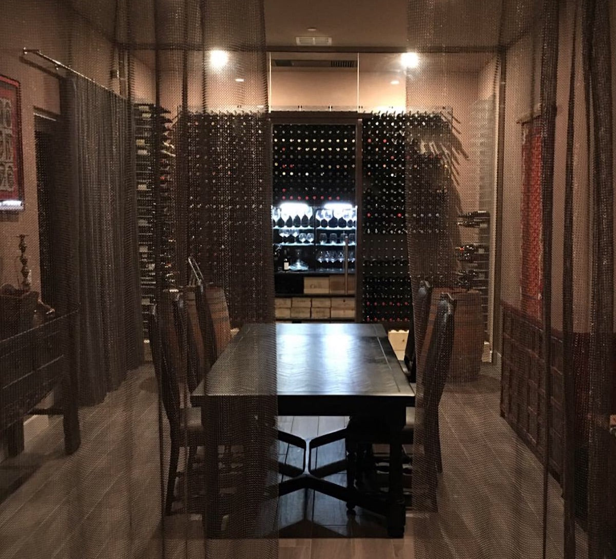 private wine tasting room