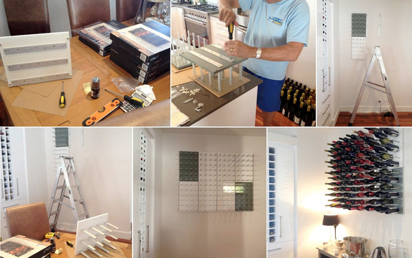 easy to install wall mounted wine racks