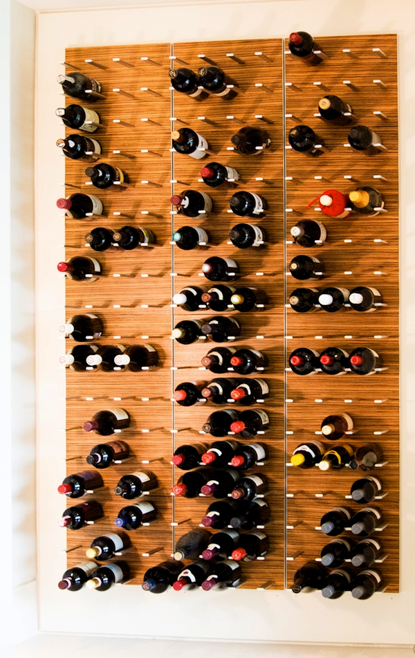 zebrano wine wall