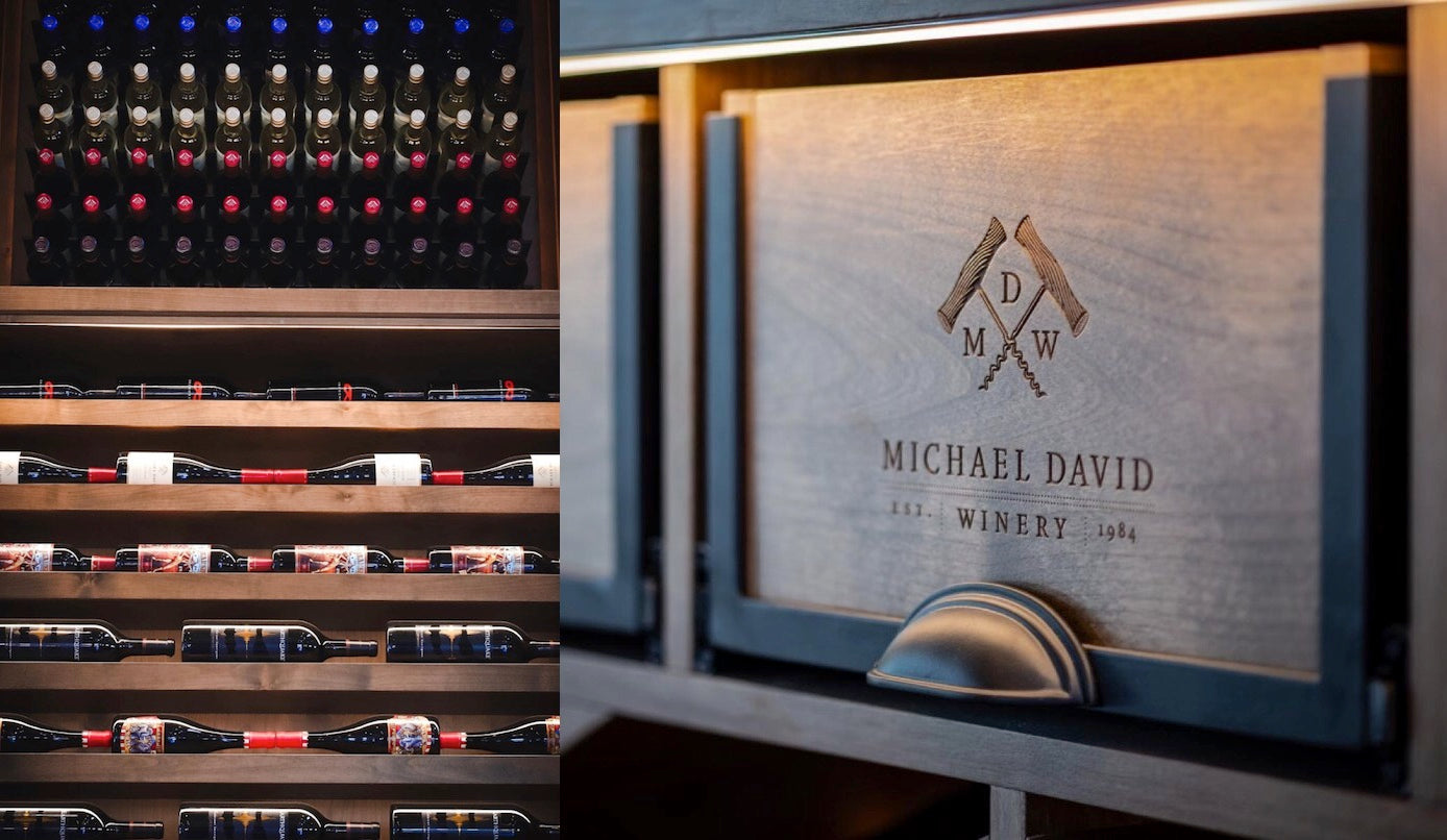 michael david winery tasting room wine cellars