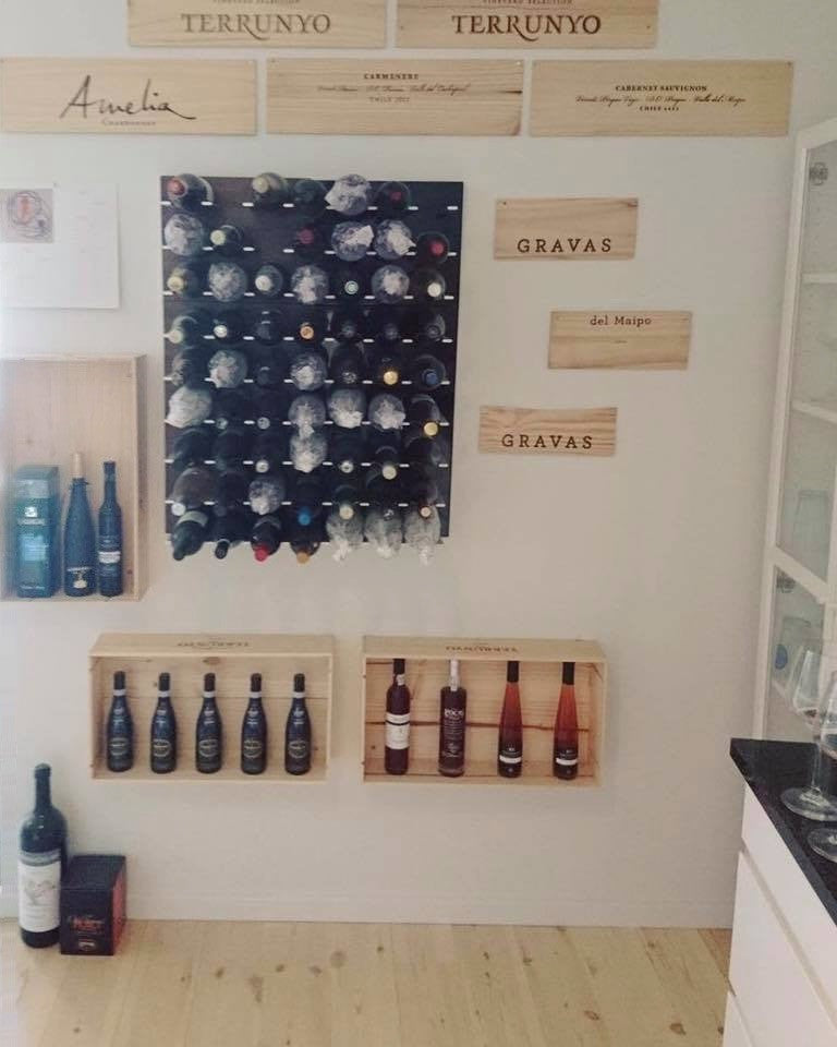 wine racks for winery tasting room