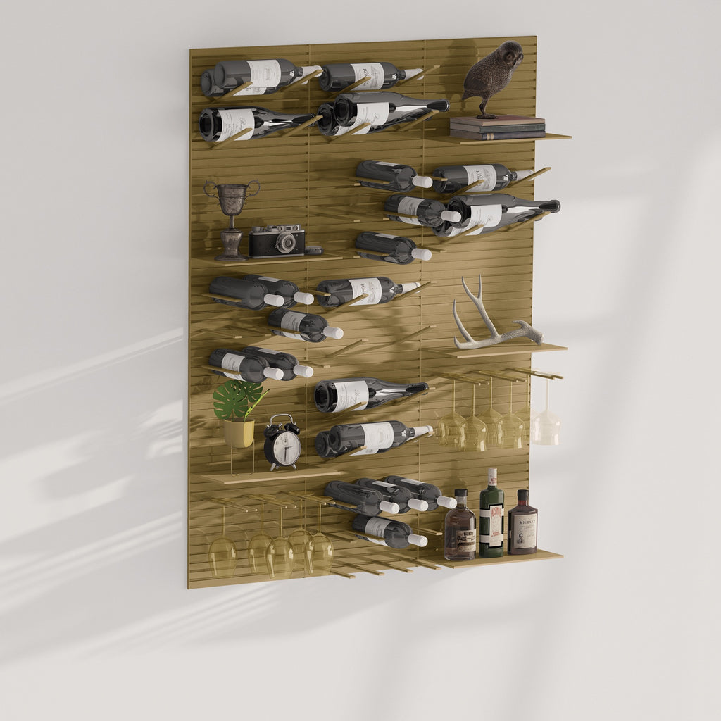 wall display for wine bottles