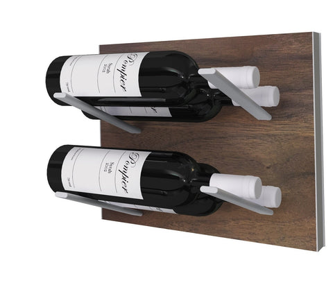 Label-out wine racks