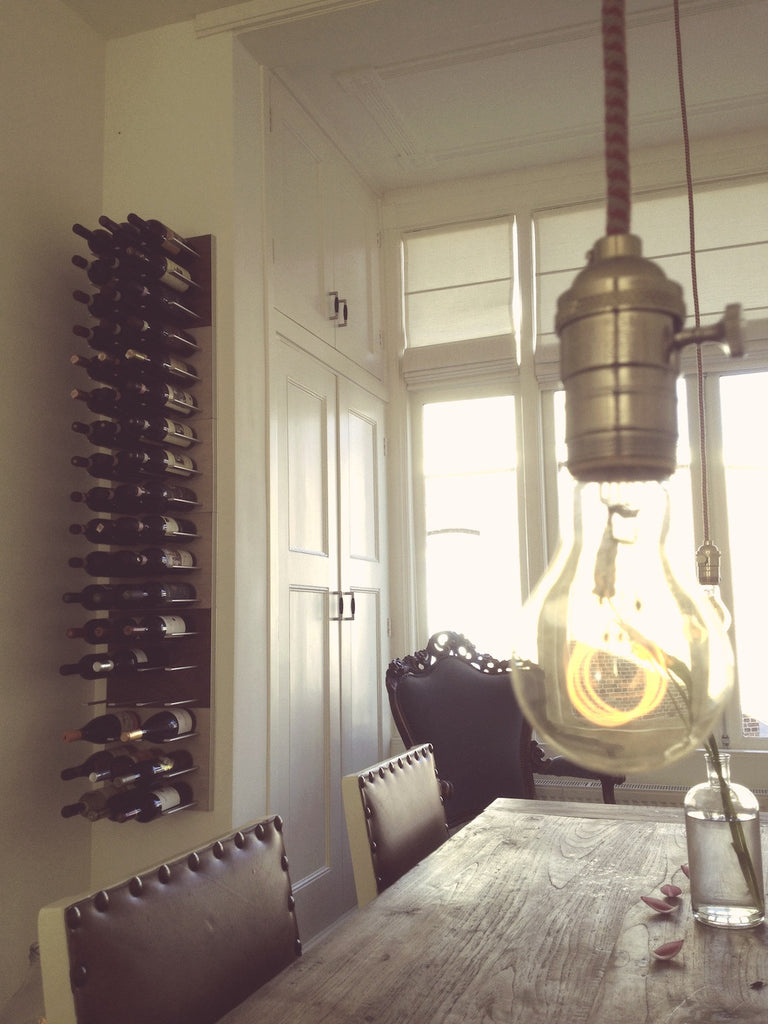 Oak Wall-mounted Wine Racks