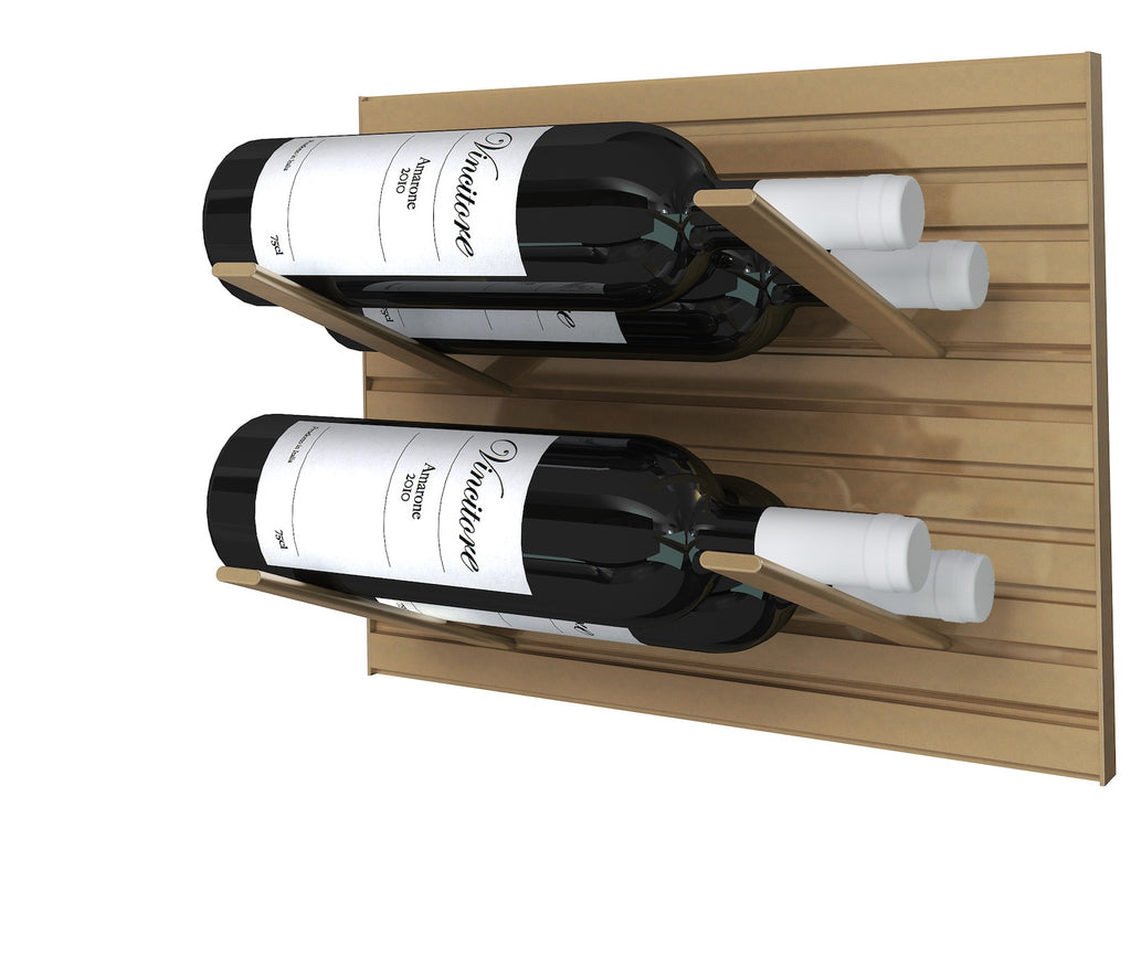 bronze - label-out wine rack
