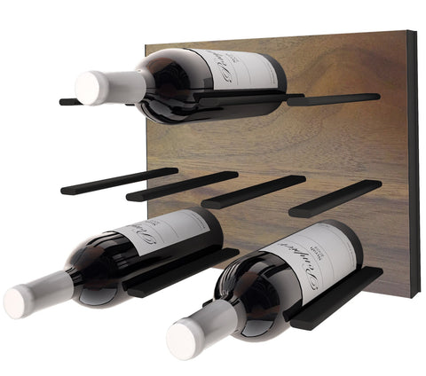 stact premier wine rack - walnut & black