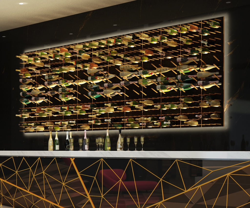 champagne and wine bar wall racks