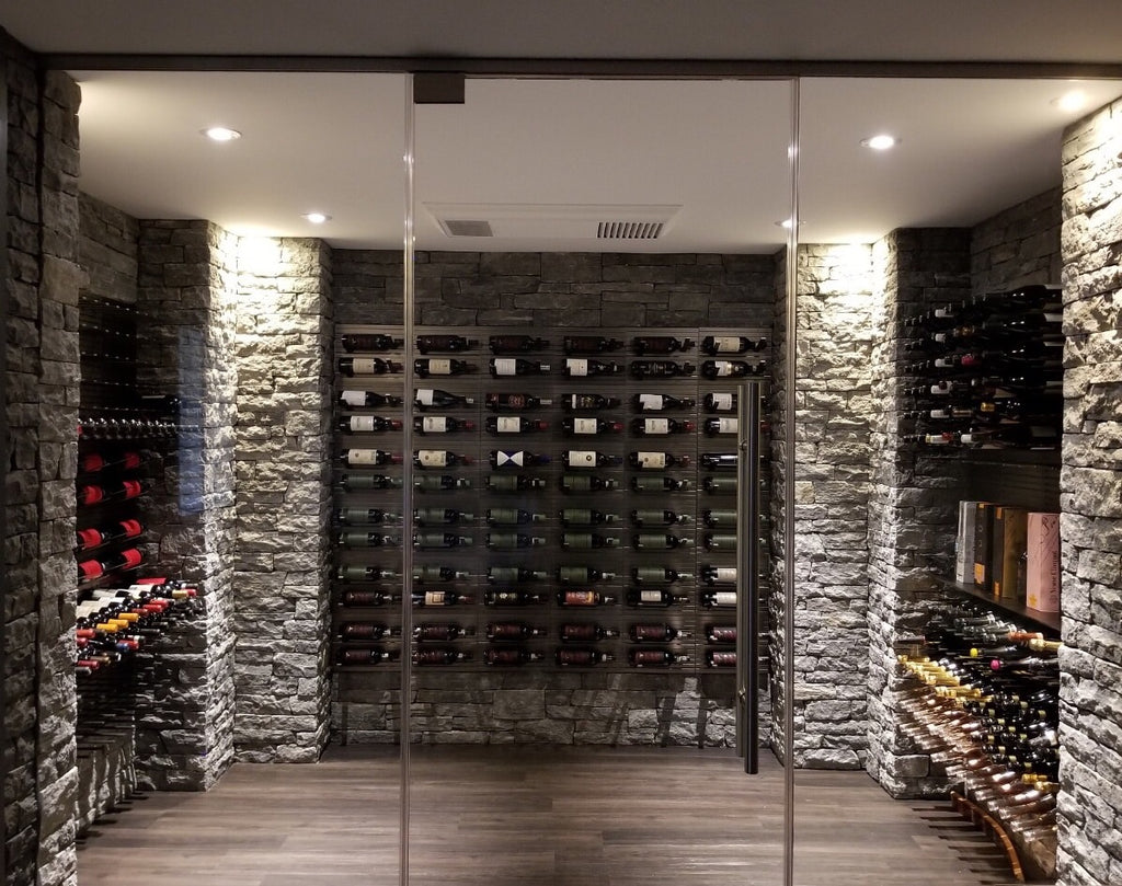 metal stemware racks for wine room