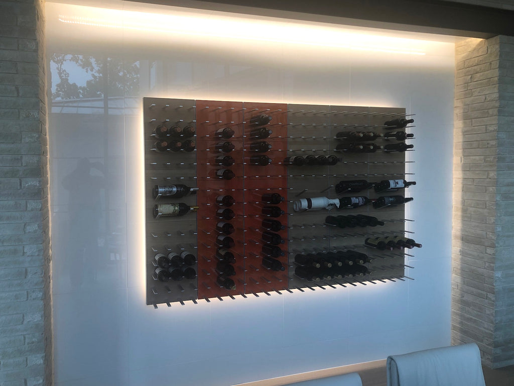 wine cellar with LED backlighting