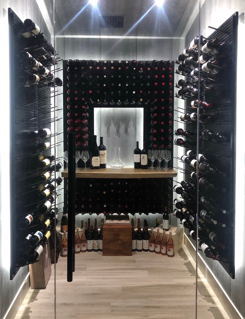 luxury wine room design - las vegas