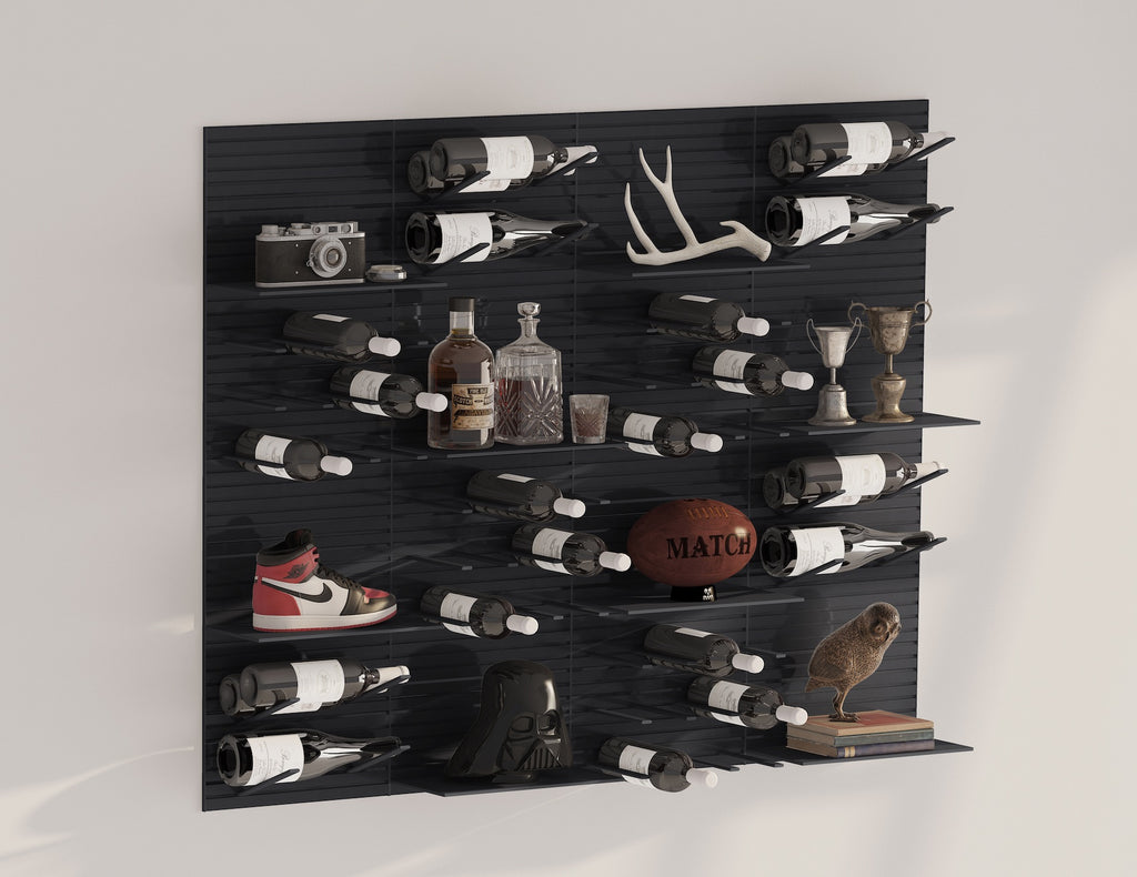 modern man cave wall storage