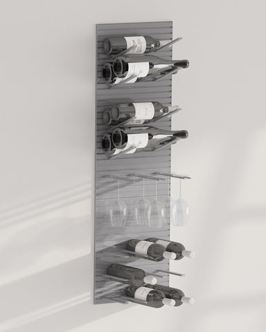 wine glass and bottle racking