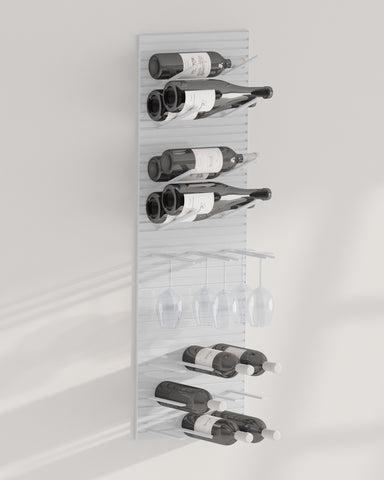 wine glass and bottle rack