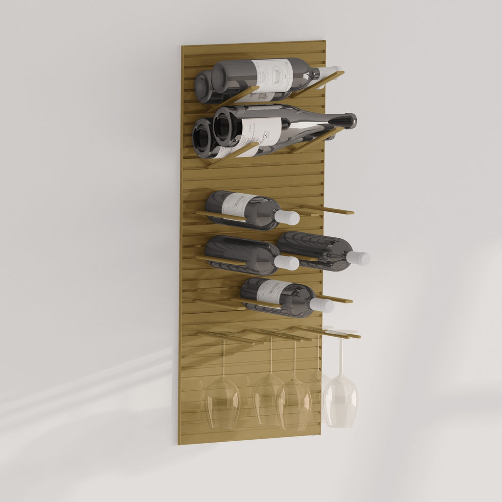 wine bottle and stemware racking
