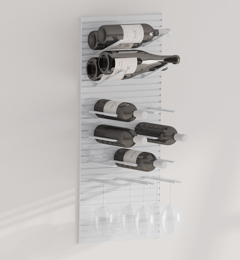 label-out wine racks - STACT Pro - silver