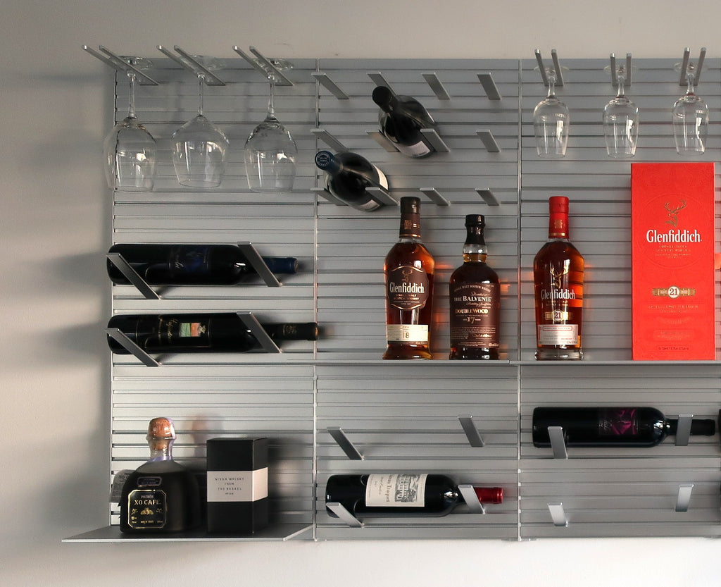 metal wall mounted shelf system