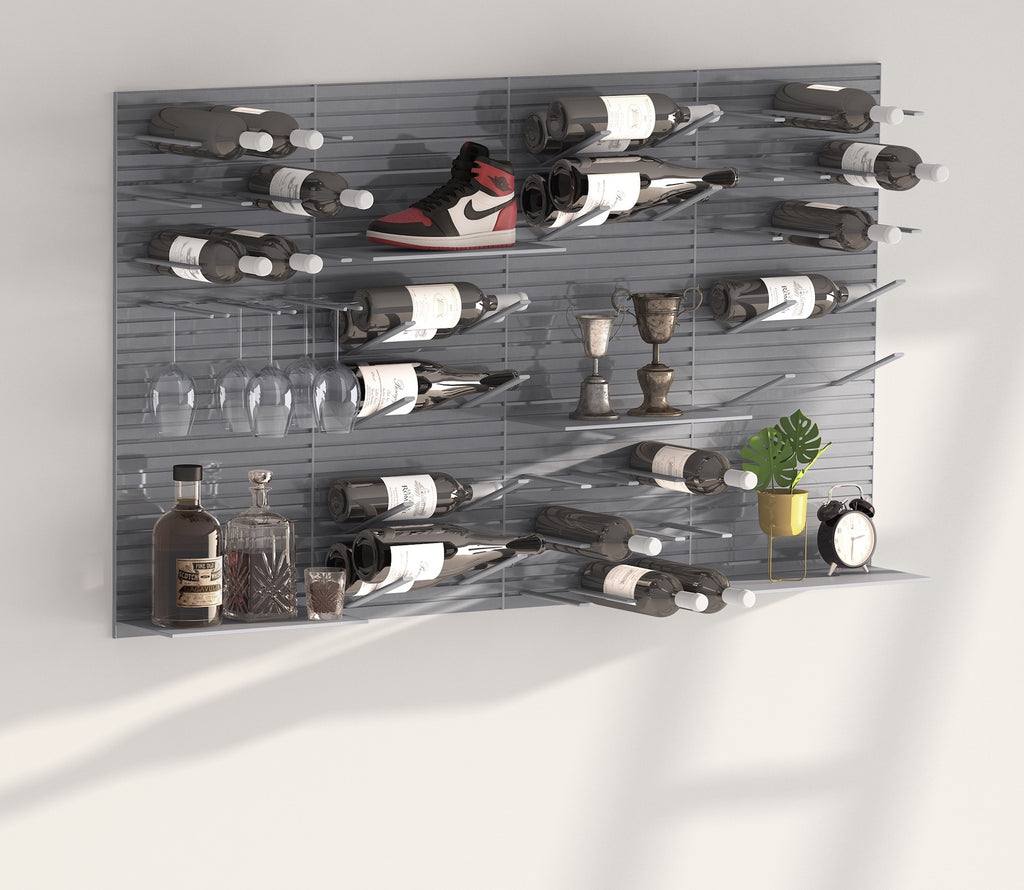 versatile storage wall display system