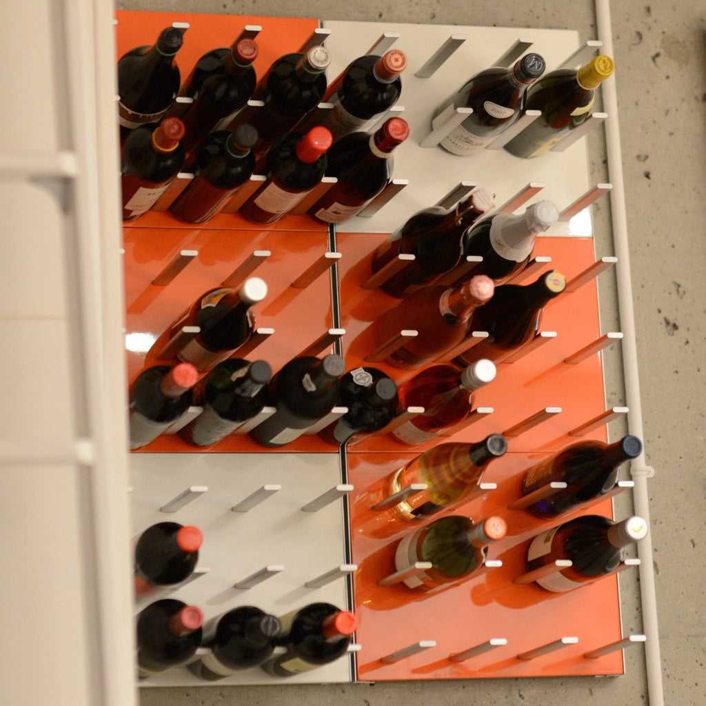 peg wine rack with panels