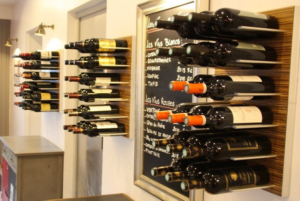 Wall Mounted Wine Rack Wall System Zebrano Stact