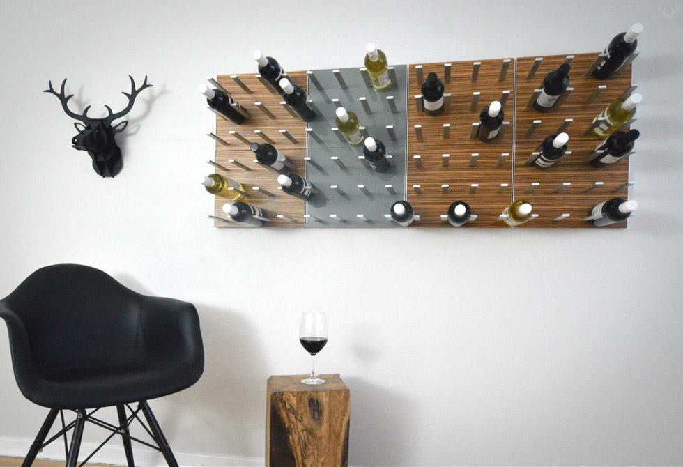 STACT C-type Wine Rack - Zebrano