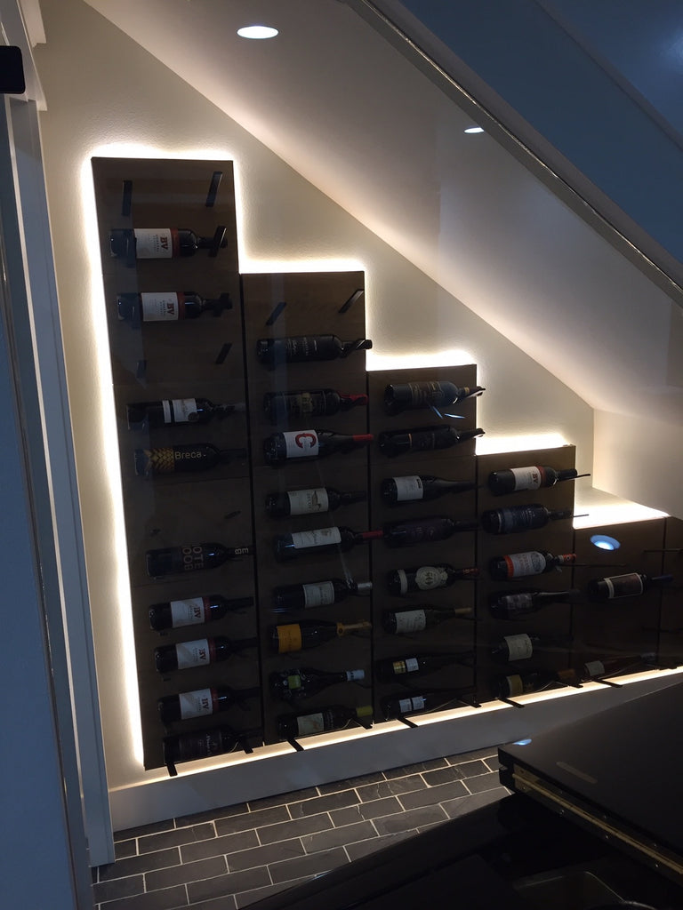 under stairs wine storage