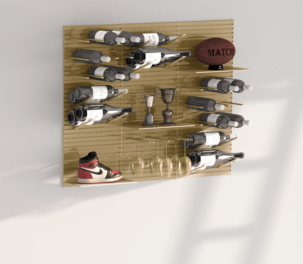 modern wine peg wall system for men