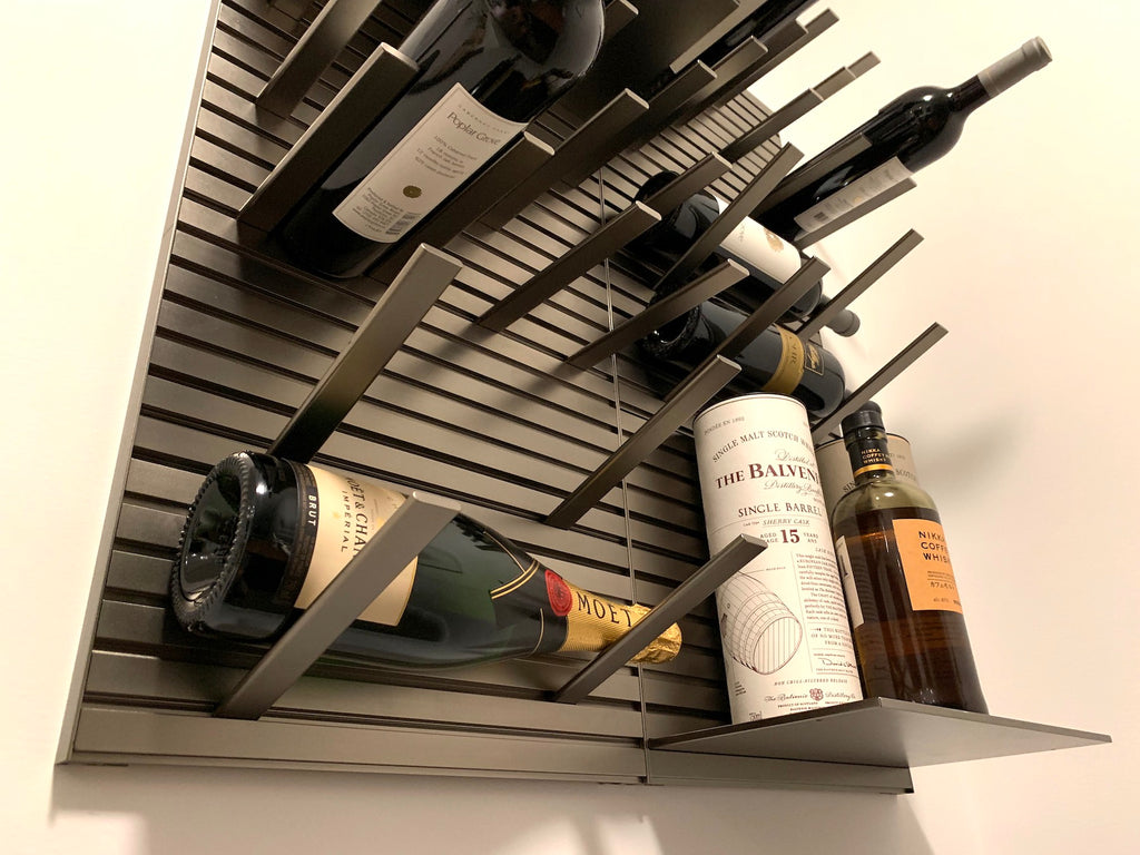 metal wine racking system