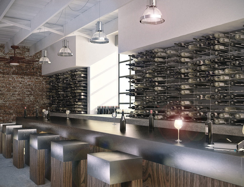 wall mounted wine racks for restaurant and bars