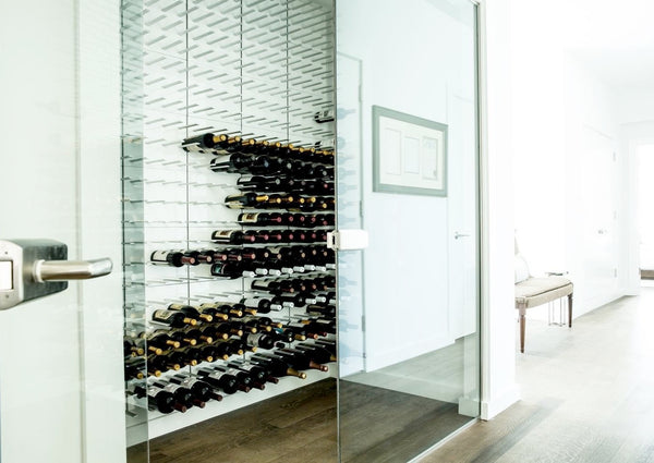 Stylish Wall Mounted Wine Racks Stact Gloss White