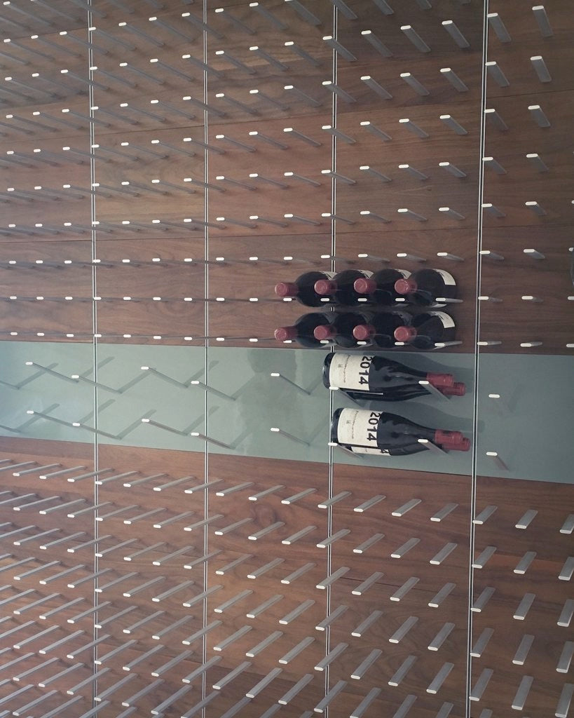 modular wine bottle storage wall