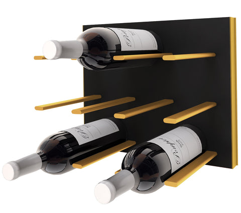 STACT C-type Wine Rack - Black & Gold