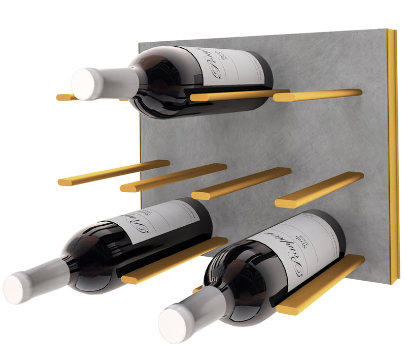 STACT Premier C-type Wine Rack - Concrete & Gold