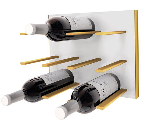 STACT C-type Wine Rack - White & Gold