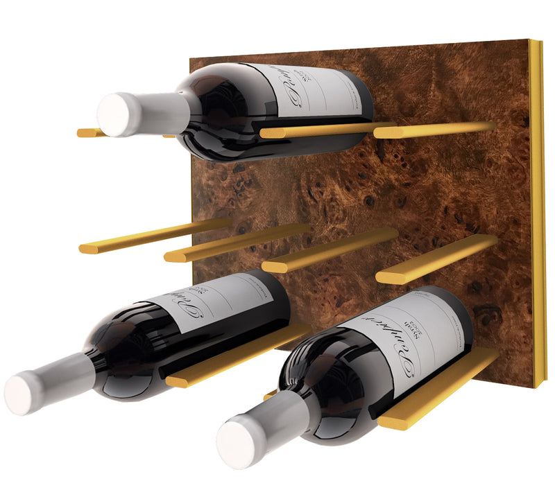 STACT Premier C-type Wine Rack - Burl & Gold