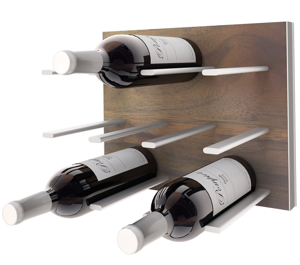 Wall Mounted Wine Racks Stact Walnut Stact Wine Racks