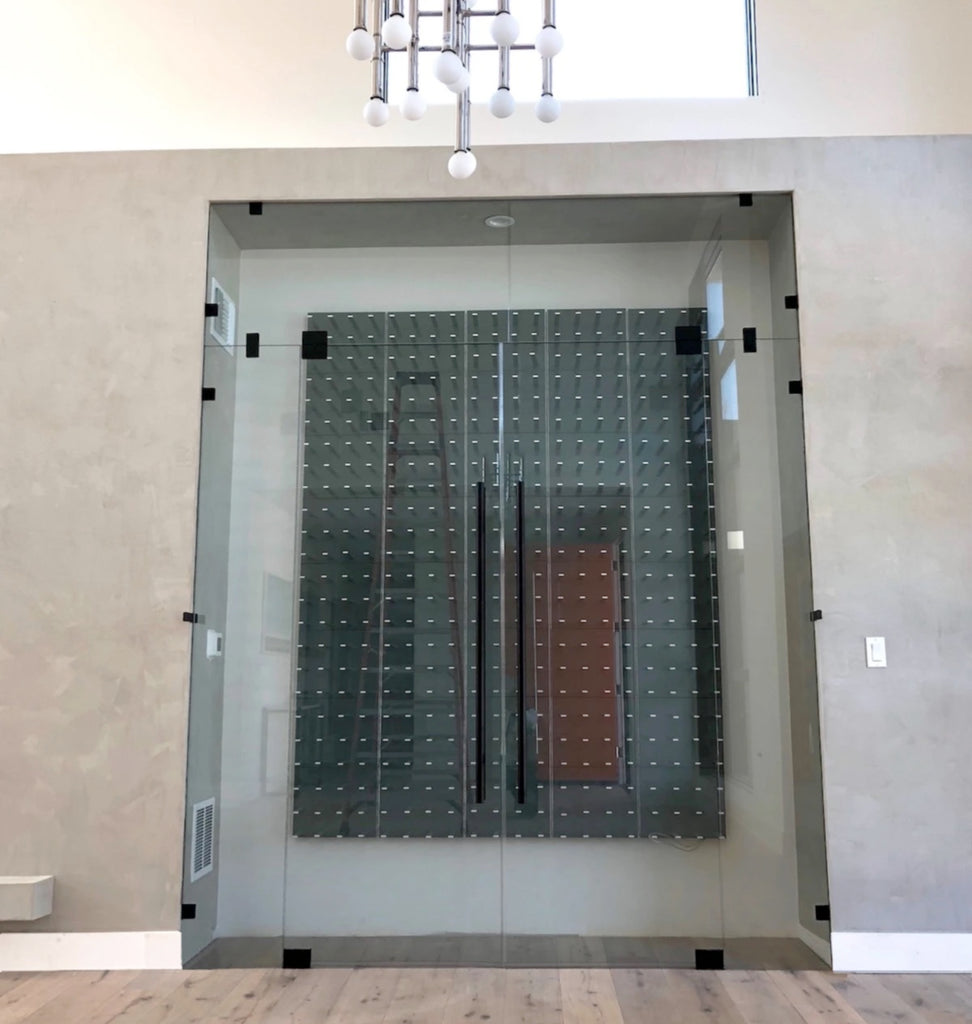 wine cellar glass doors