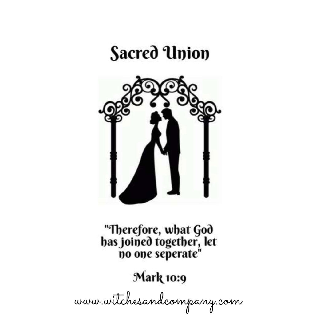 Sacred Union Dressed Candle