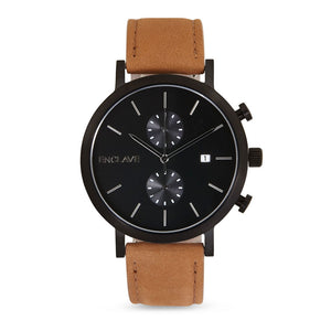 The Chrono - Gunmetal / Brown Suede