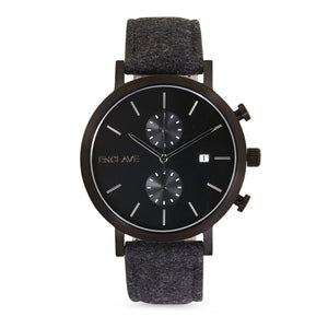 The Chrono - Gunmetal / Black Tweed