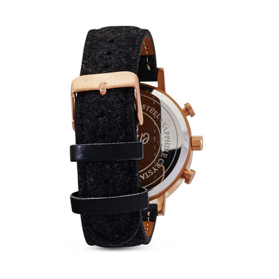 The Chrono - Rose Gold / Black Tweed