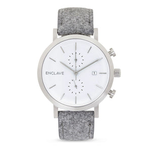 The Chrono - Silver / Grey Tweed