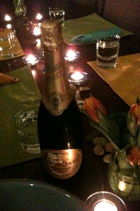 Champagne at Home with Friends