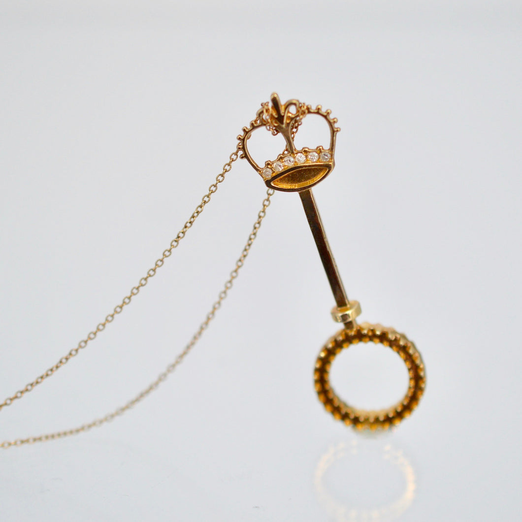 Bubbles, Baby Gold Bubble Wand Necklace