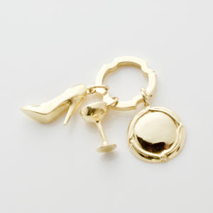 Champagne Sipping-Slipper Charm