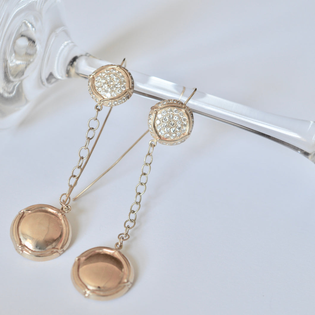 Champers on Ice Drop Earrings