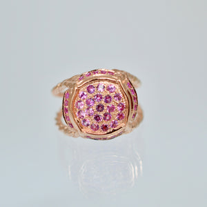 Champers, Baby Ring with Rosé Sapphires