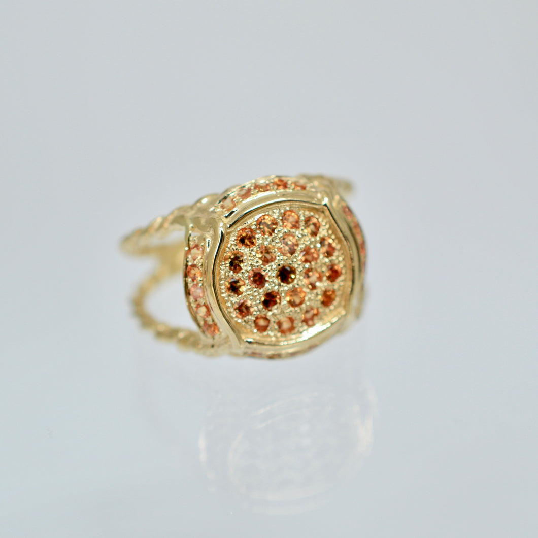Champers, Baby Ring Orange Sapphire